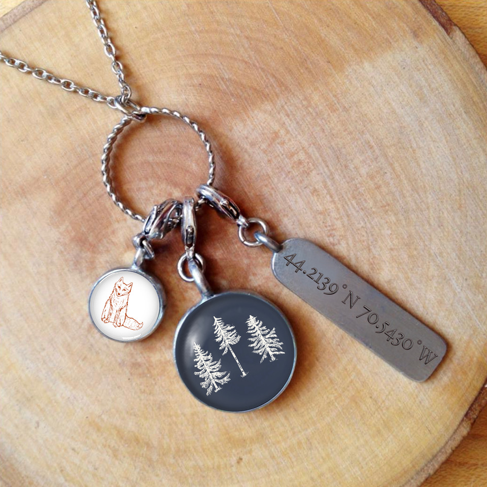 The Woods Charm Necklace - Lifestyle CHART Metalworks Fox